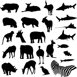 Free SVG silhouettes at UberPiglet