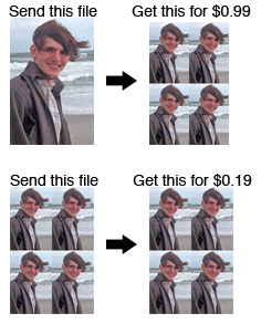 Save money on wallet size photos