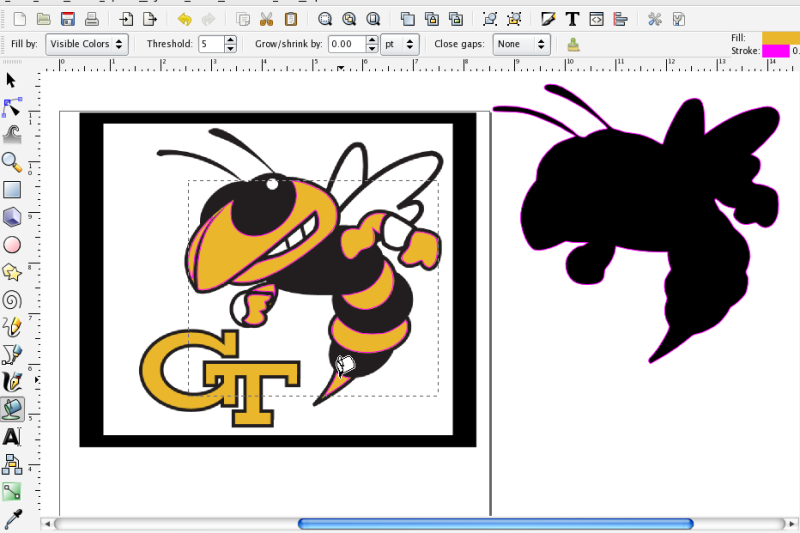 More on using the Paint Bucket in Inkscape
