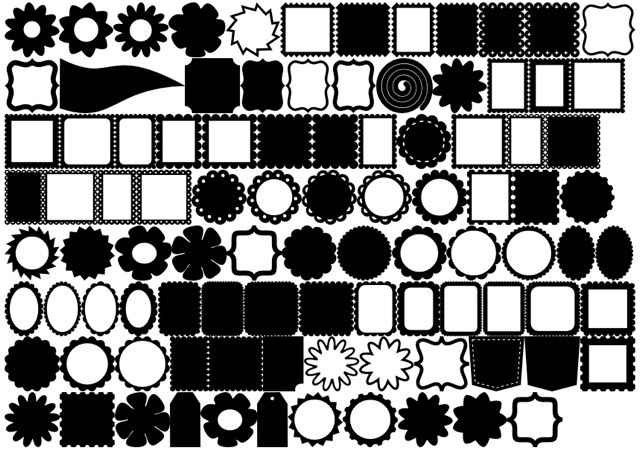 New free dingbat font for die cutters