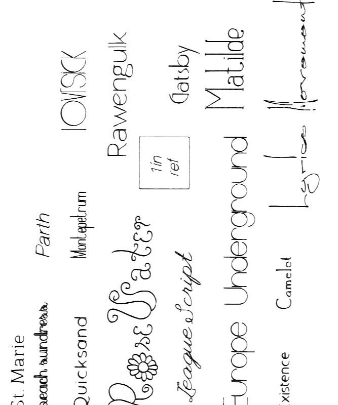 More free gel pen fonts