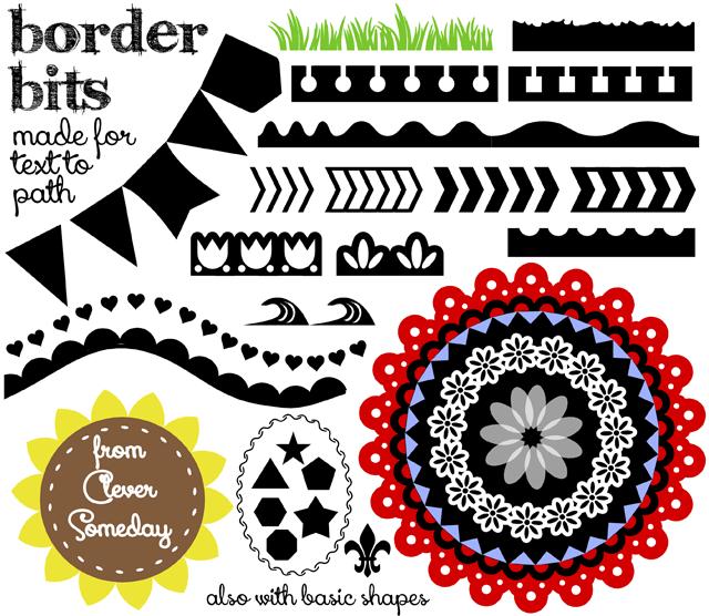 Border Bits – a new free dingbat font