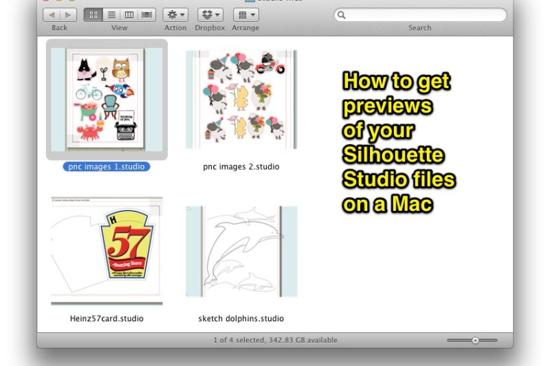 Adding thumbnails to your .studio files on a Mac