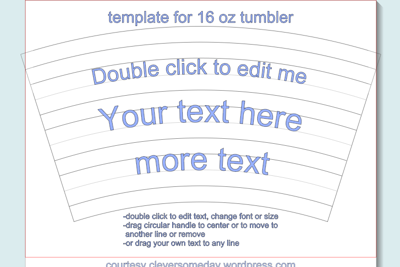 Tumbler template freebie