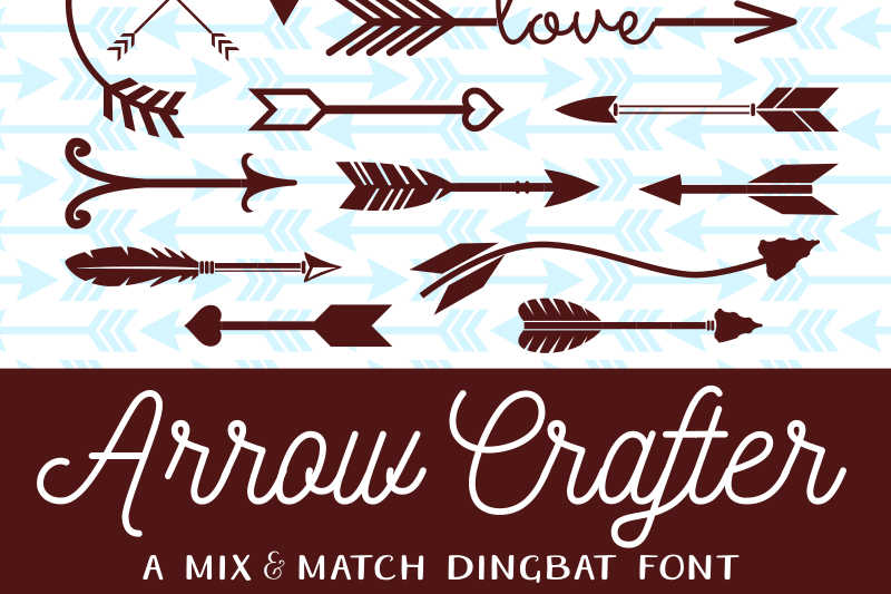 My Arrow Crafter font hits Dafont