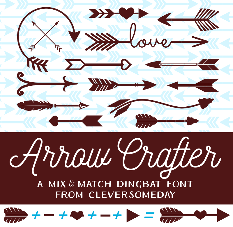 My Arrow Crafter font hits Dafont