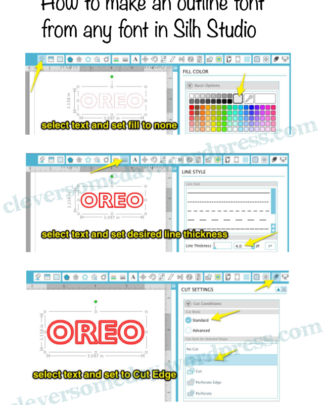 Outline any font quickly in Silh Studio