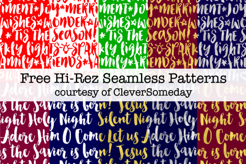 Holiday patterns freebies