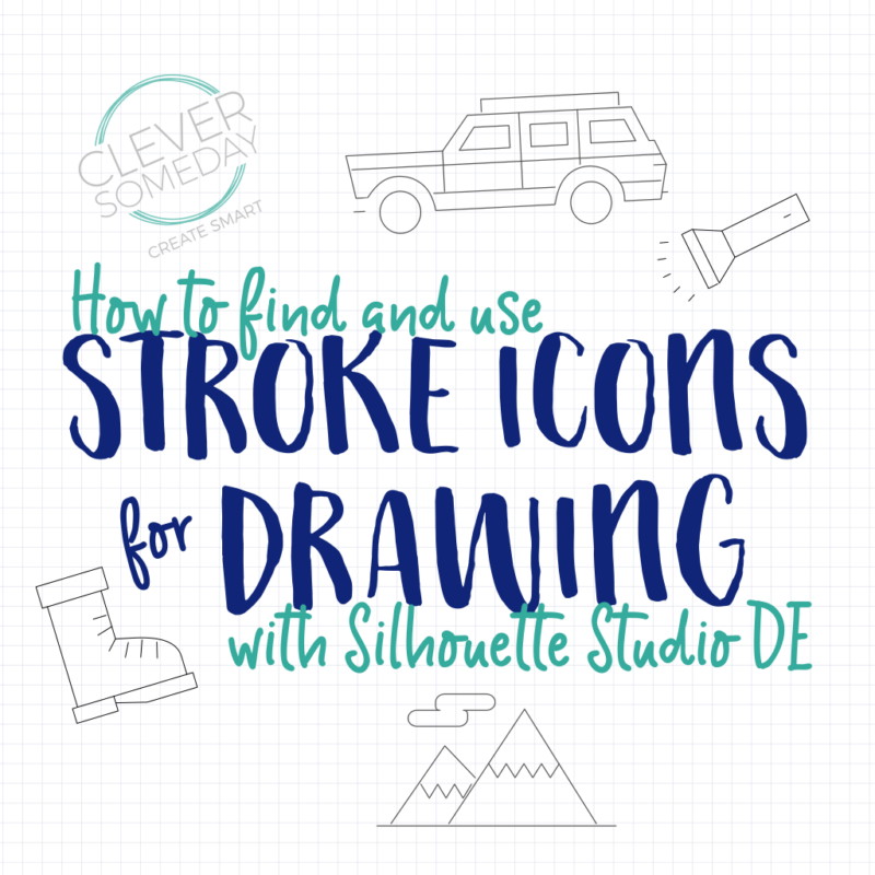 Stroke icons to sketch files in Silhouette Studio DE