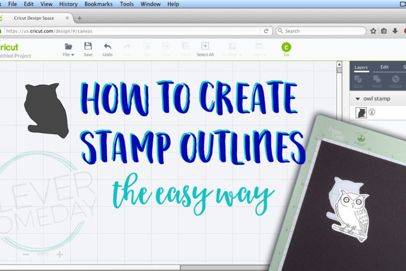Easy stamp outlines in Cricut Design Space