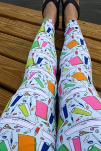 Silhouette motif leggings from Clever Someday